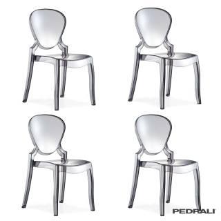 Chaise indoor QUEEN 650 - x 4 / Fumé / Pedrali