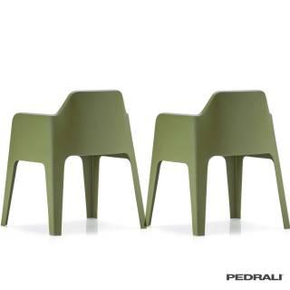 Chaise d'extérieur PLUS 630 - x 2 / Vert / Pedrali