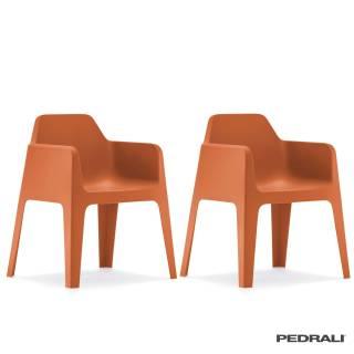Chaise avec accoudoirs PLUS 630 / Orange / Pedrali