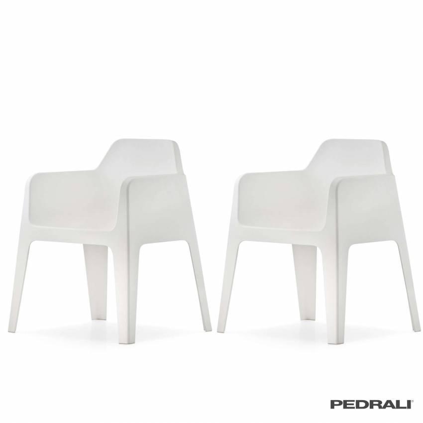 Chaise design PLUS 630 - Vendue par 2 / Blanc / Pedrali