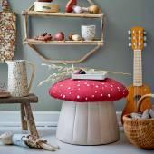 Pour LUE champignon / H. 30 cm / Rouge / Bloomingville