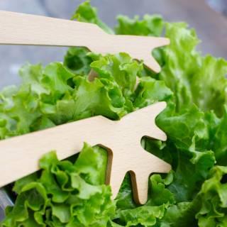"""Couverts à salade en bois """" Du bout des branches """""""