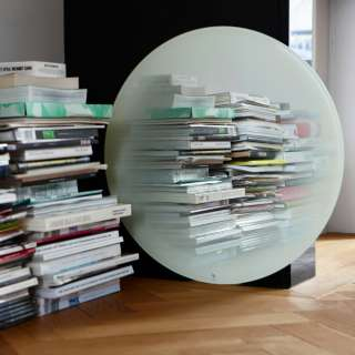 Eno Studio / Miroir rond FADING Blanc - Ø 55 cm