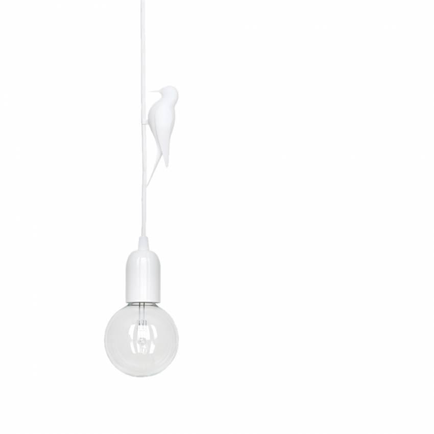Suspension LETI et son oiseau blanc / Câble blanc